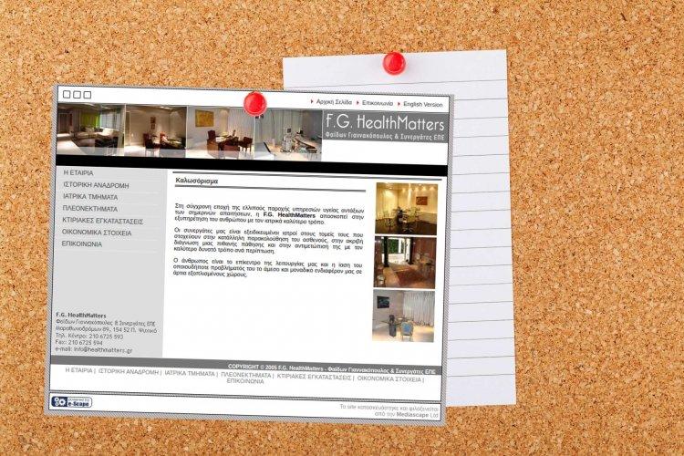 Κατασκευή και Φιλοξενία εταιρικού site – healthmatters.gr